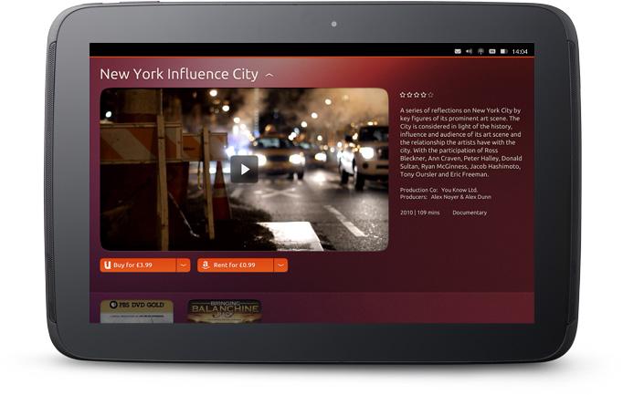 Ubuntu tablet's media player