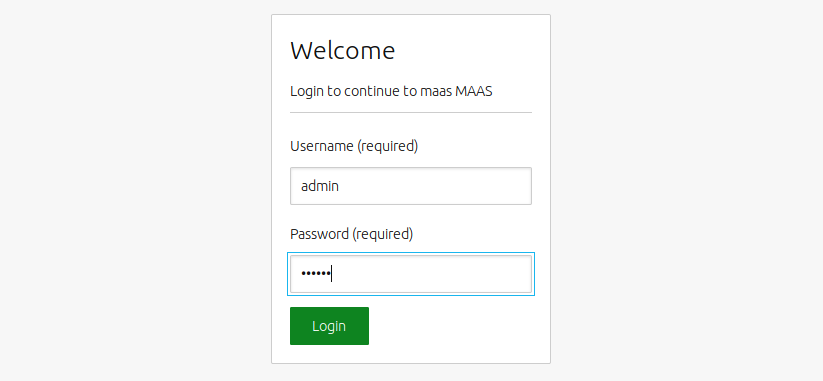 web UI login