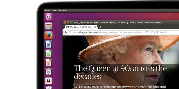 The Guardian website on Firefox in 16.04 LTS