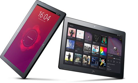 Two Ubuntu tablets