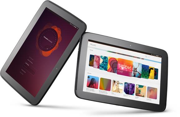 Two Ubuntu tablets side by side