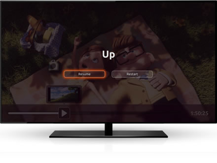 Ubuntu TV pick up where you left off