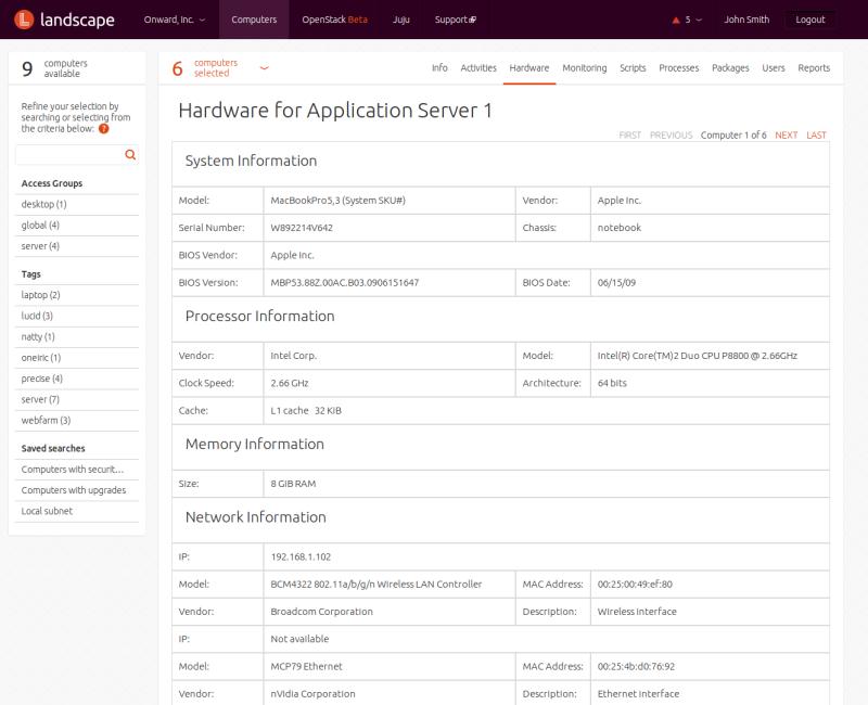 Hardware for Application Server