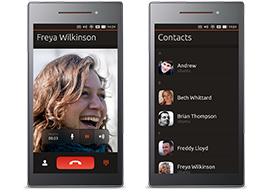 Two Ubuntu phones side by side