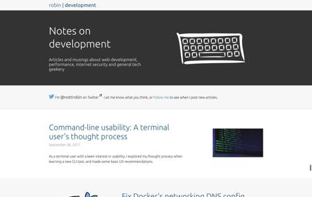 Notes on development screenshot