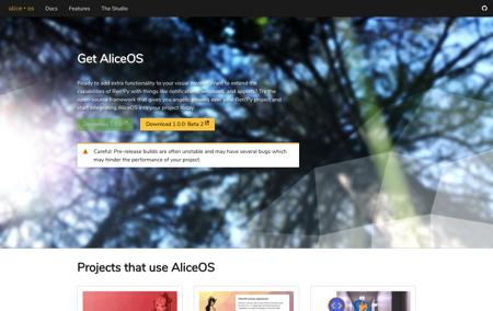 AliceOS screenshot