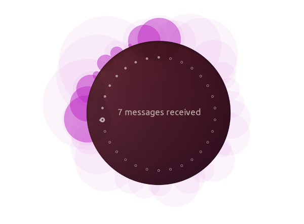 Ubuntu Phone infrographic showing messages received