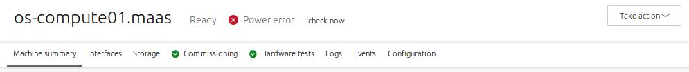 web UI node menu