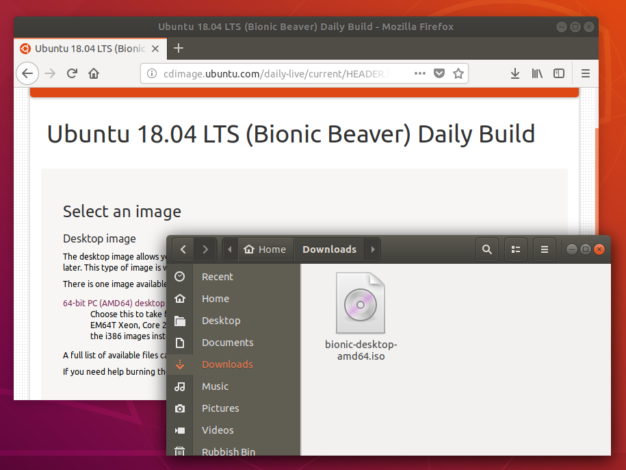 Download an Ubuntu ISO
