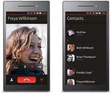 Two Ubuntu phones side by side