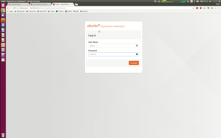 screenshot of the conjure-up interface with the 'OpenStack with NovaLXD' option selected