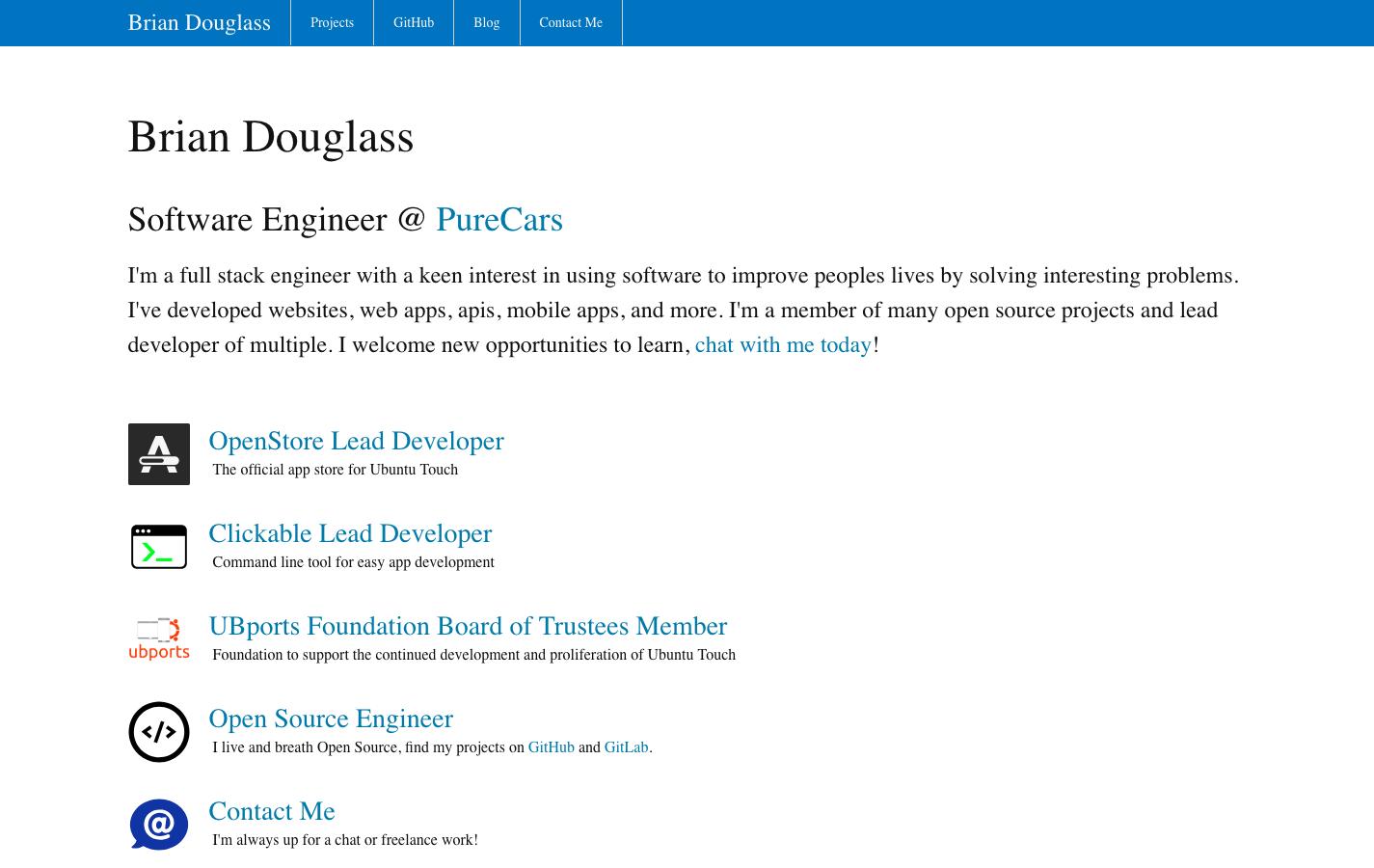 Brian Douglass screenshot