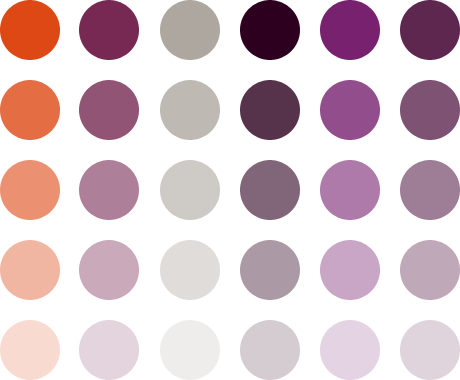Ubuntu Colours Arranged As A Dot Pattern