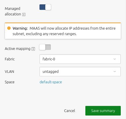 subnet management maas documentation