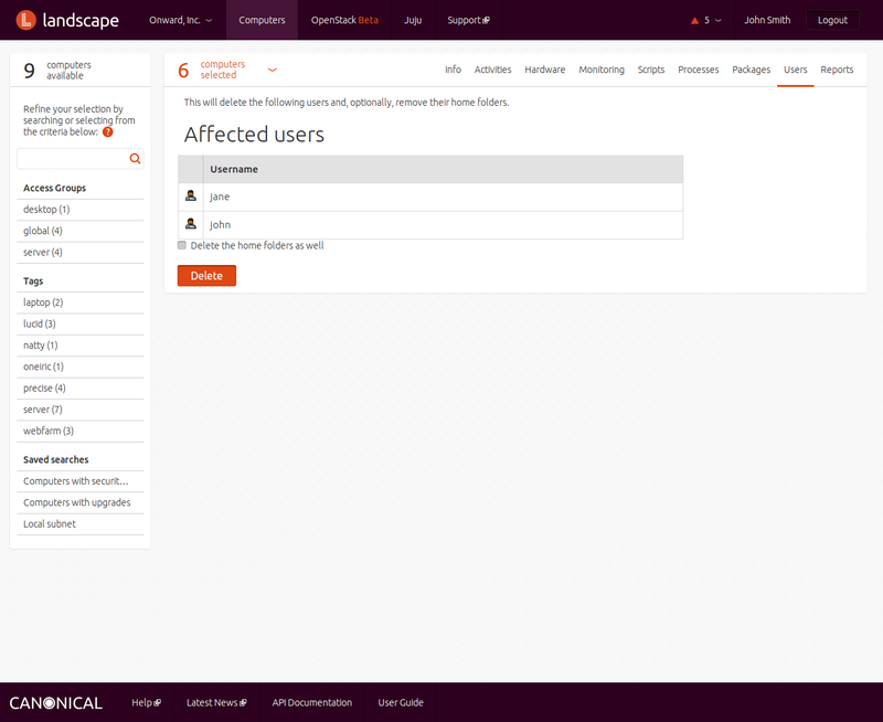 Affected users