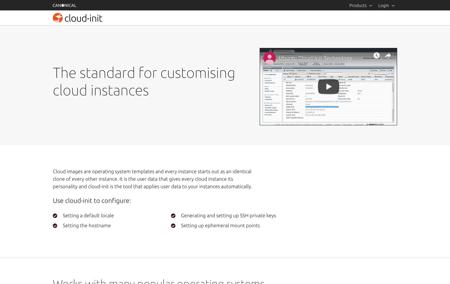 Cloud-init screenshot