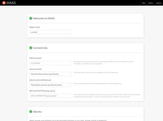 First user journey screenshot