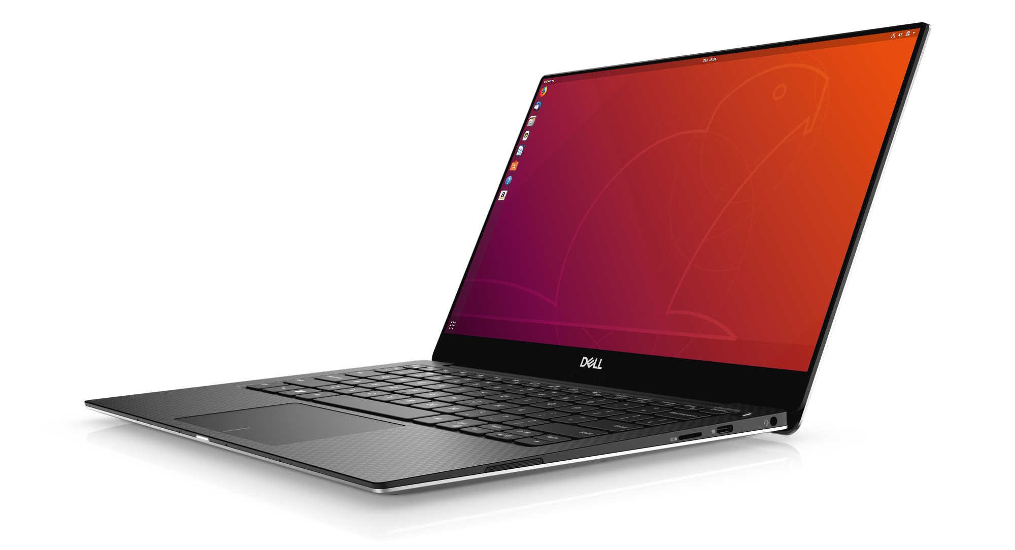 Dell XPS laptop for developers running Ubuntu Desktop by default