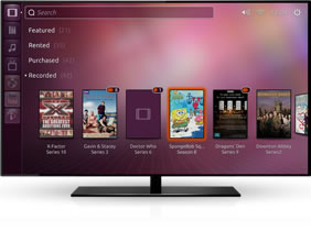 Ubuntu TV recorded movies and programs window