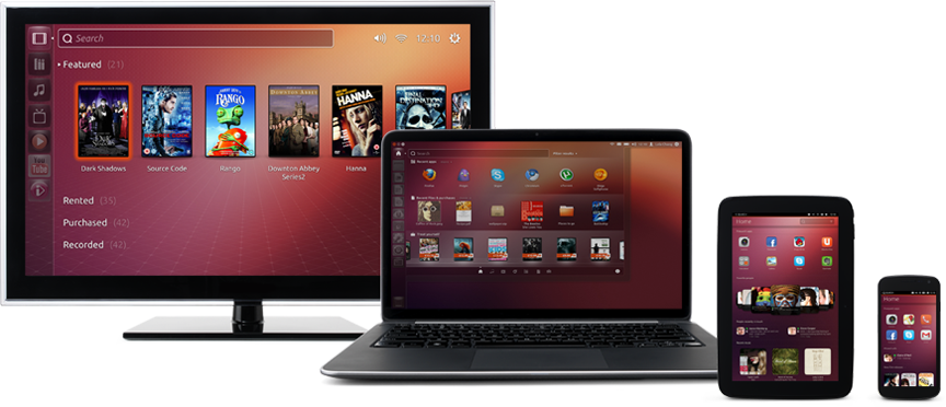 The family of Ubuntu devices is complete, TV, decktop, tablet, phone