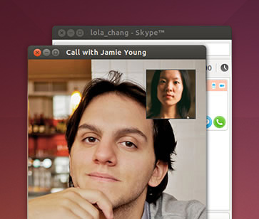 Skype video call on Ubuntu