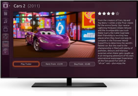 Ubuntu TV view trailer, rent or buy film functionality