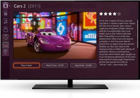 Ubuntu TV view trailer, rent or buy film functionality