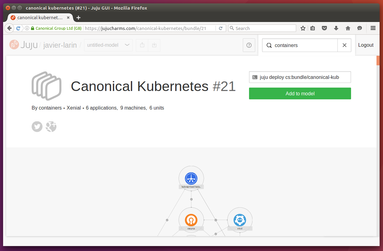 Canonical kubernetes bundle