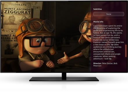 Ubuntu TV displaying movie details