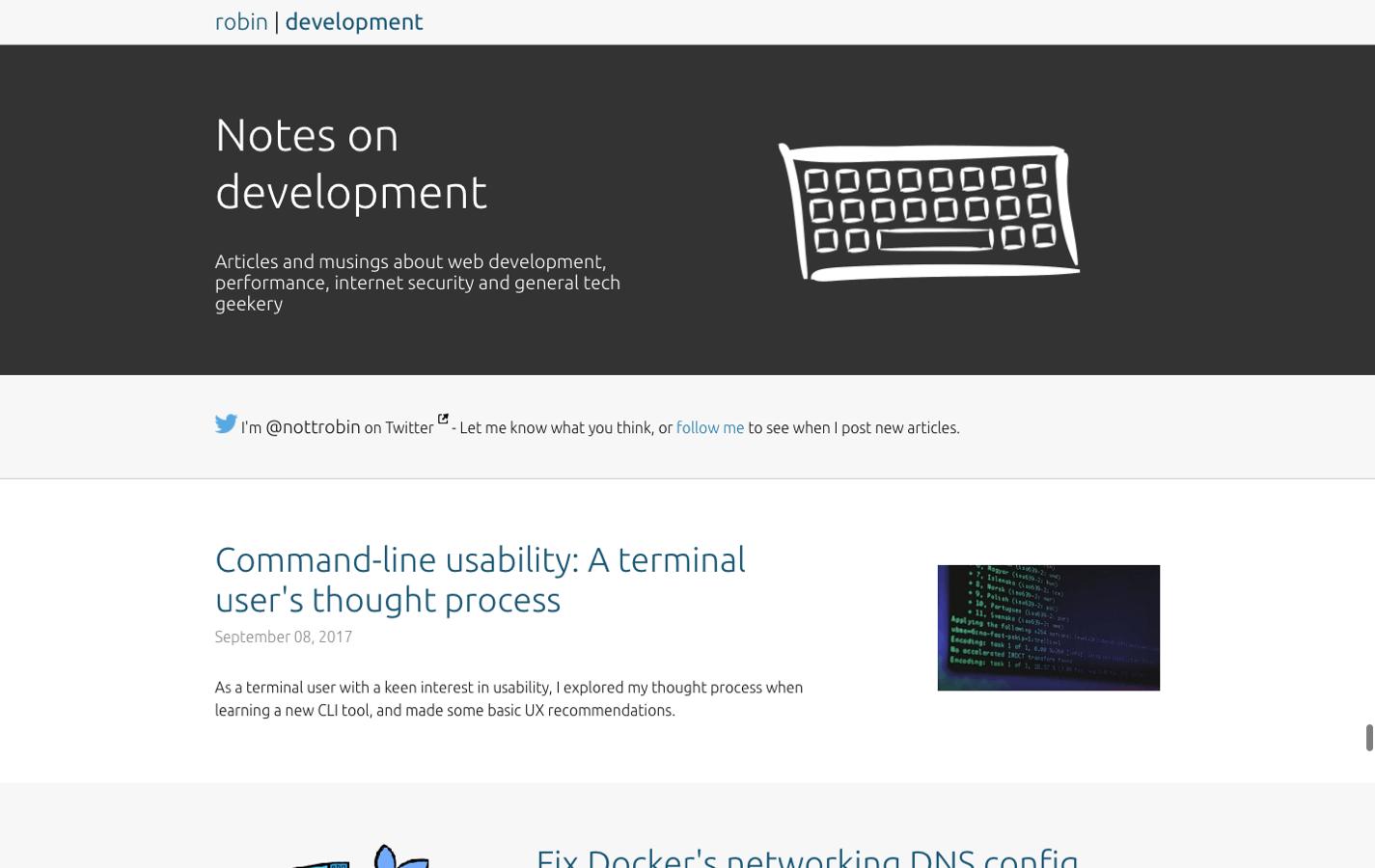 Notes on development