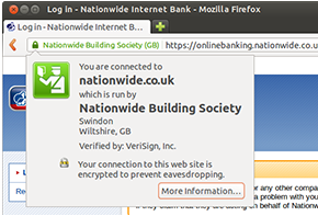 Lloyds TSB in Firebox on Ubuntu