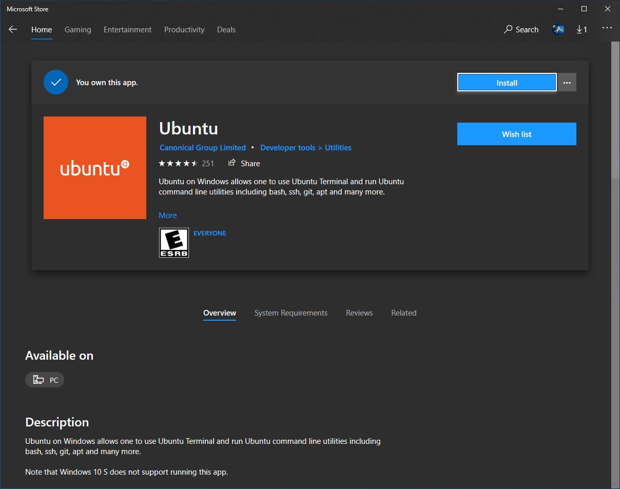 Wsl Ubuntu