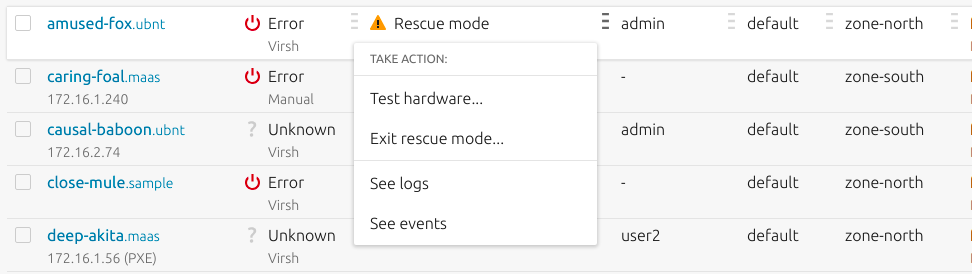 in-table actions